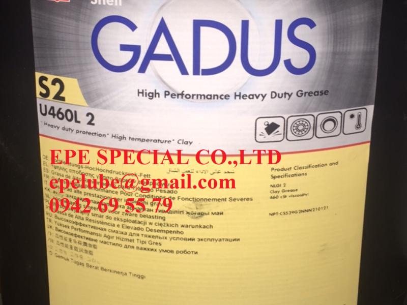 Gadus S2 U460 L2 - Mỡ chịu nhiệt Shell chính hãng